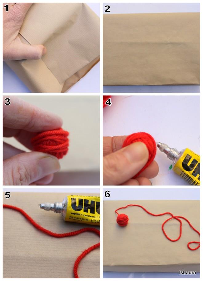 Come realizzare confezioni regalo di Natale particolari in lana.