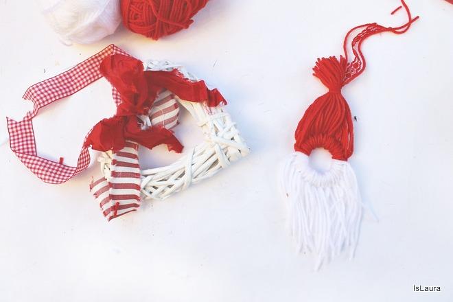 Occorrente per fare un babbo Natale da appendere