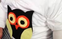 maglietta per bambini fai da te a forma di gufo