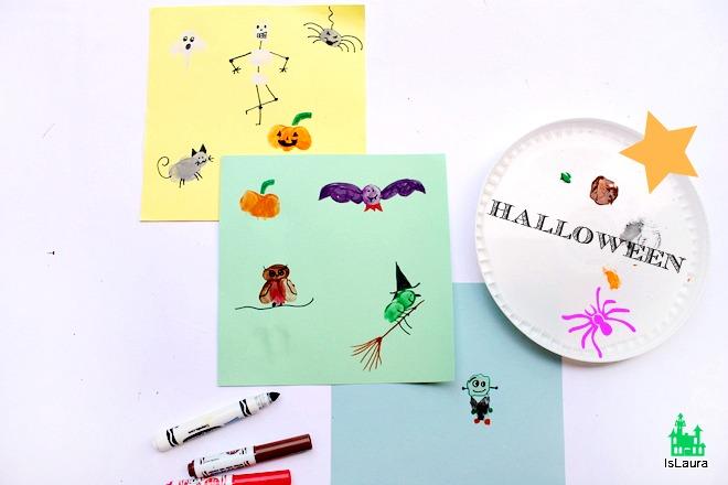 Tutorial come fare i personaggi con le dita per Halloween