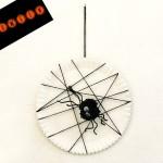 Tutorial gioco attività come realizzare ragnatela e ragno di pompon lana halloween