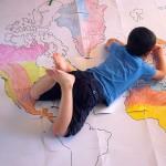 Geografia per bambini: giocare con il planisfero