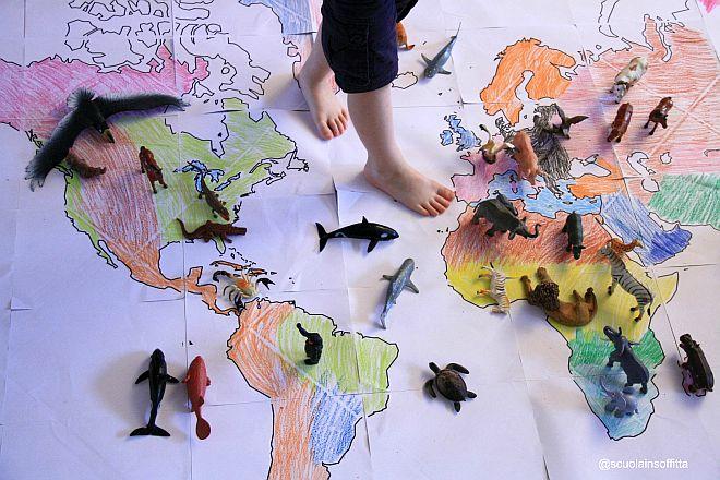 Preferenza Geografia per bambini: giocare con il planisfero | Mamma Felice YT15