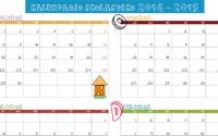 Calendario scolastico 2014-2015 stampabile