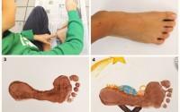 Collage-come-fare-Gesù-bambino-con-i-piedi-biglietto-di-Natale-auguri