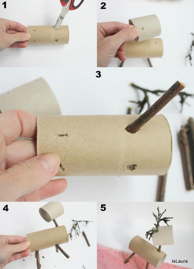 Come-fare-renna-di-Natale-con-materiali-di-riciclo.