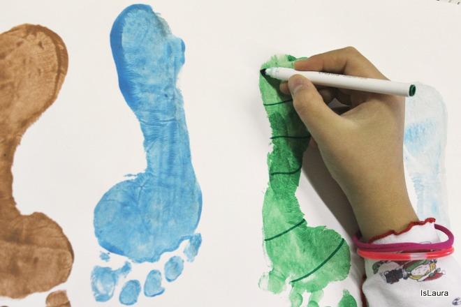 Come realizzare personaggi di Natale con i piedini