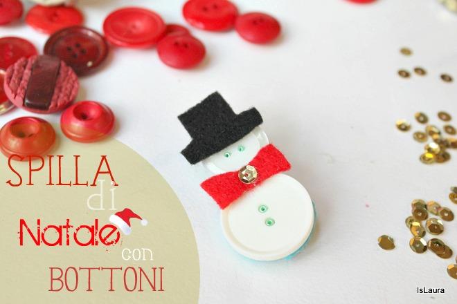 Una Spilla A Forma Di Babbo Natale Con Bottoni Mamma Felice