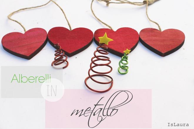Tutorial come fare alberelli di Natale con filo metallico