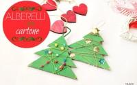 alberi-di-Natale-in-cartone-filo-di-lana-perline-e-strass