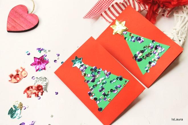 biglietti-di-Natale-in-cartoncino-e-paillettes-