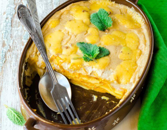 pranzo-thaksgiving-giorno-del-ringraziamento-vegetariano-lasagne-zucca