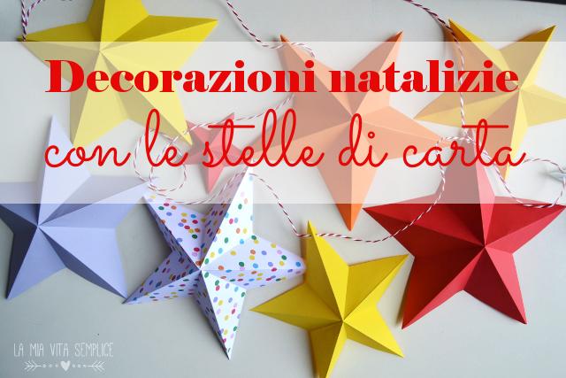 Decorazioni natalizie con stelle di carta