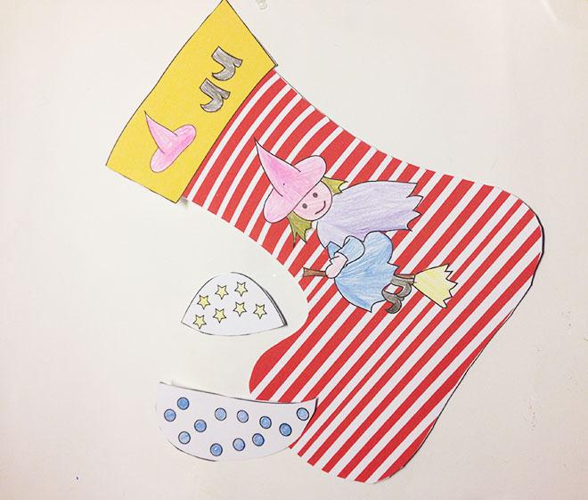 La calza della befana da stampare e assemblare mamma felice for Calza della befana da colorare