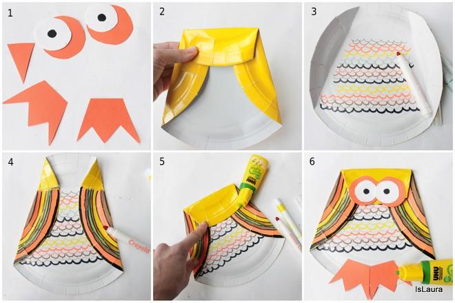 come-fare-un-gufo-riciclando-un-piatto-di-carta.