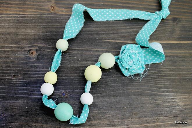 Amato Festa della mamma: collana di stoffa e perle | Mamma Felice TJ77