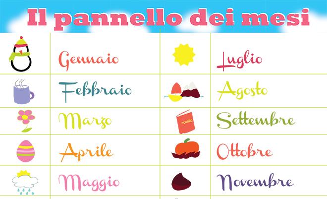 Calendario Gravidanza Corrispondenza Mesi Settimane.Insegnare I Mesi E Le Stagioni Ai Bambini Mamma Felice