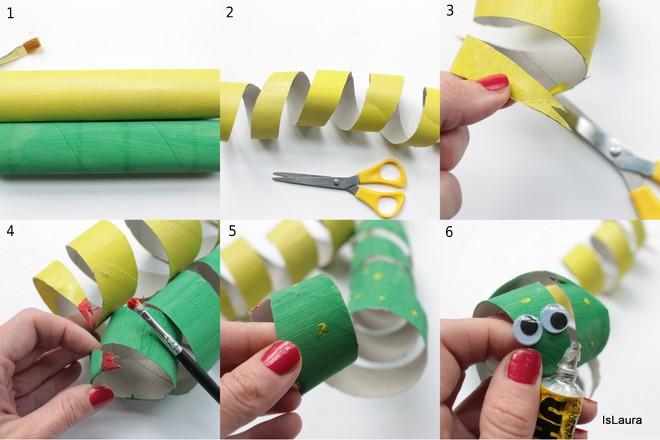 Serpenti con i tubi di cartone mamma felice for Tubi cartone
