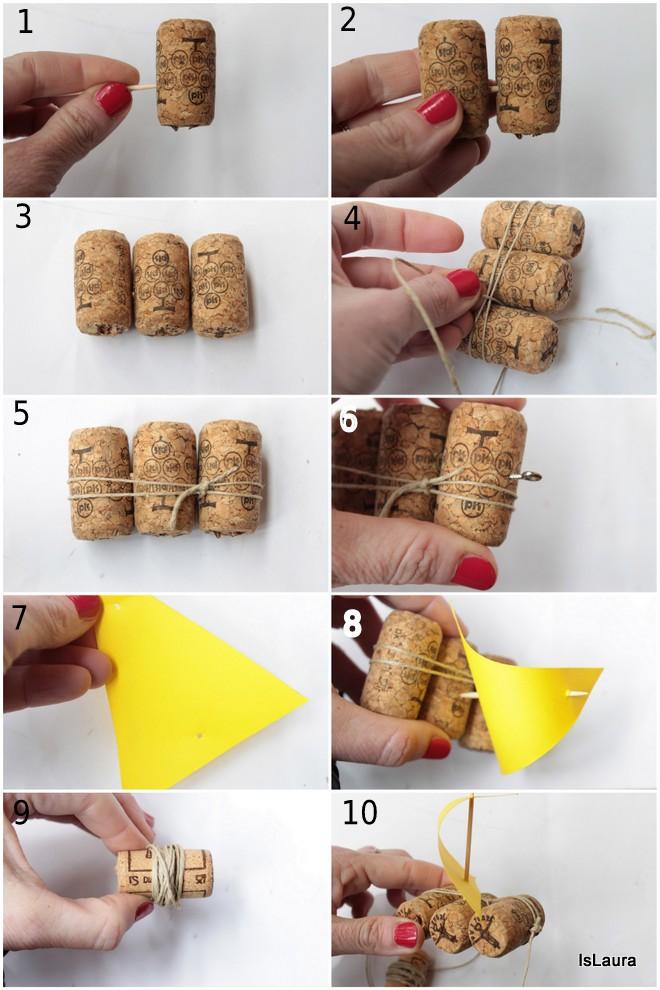 Super Barchette con i tappi di sughero riciclati | Mamma Felice UU18