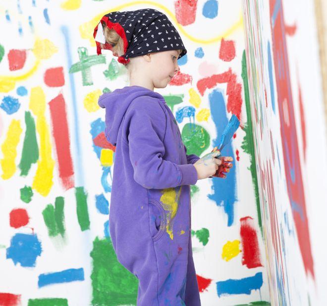 Angolo creativo in cameretta in stile montessori mamma felice - Dipingere cameretta bambino ...