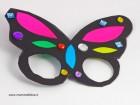 Maschera di Carnevale a forma di farfalla