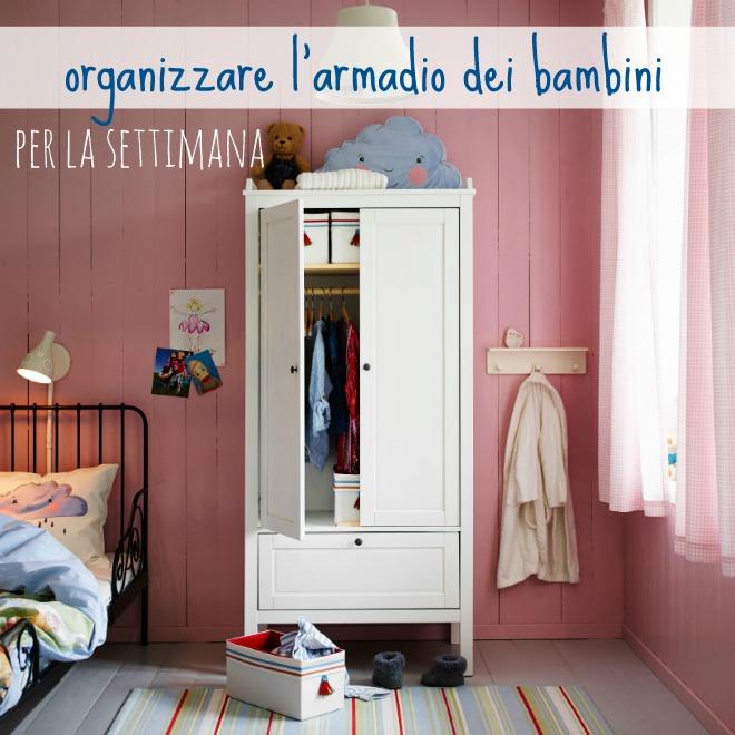 Organizzare l 39 armadio dei bambini per la settimana mamma for Armadio libreria ikea