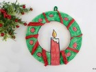 Ghirlande di Natale con i piatti di carta