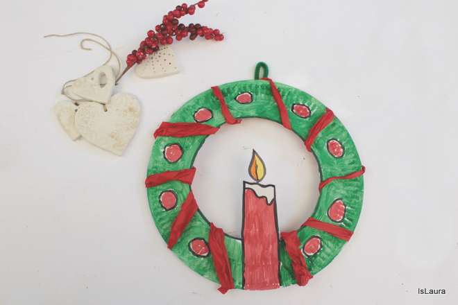 candela-ghirlanda-con-piatto-di-carta