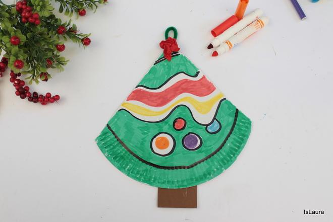 Albero Di Natale Con Cannucce Di Carta.Albero Di Natale Con Piatto Di Carta Riciclato Mamma Felice