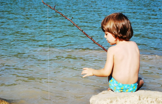 canna da pesca fai da te