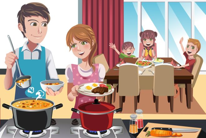 parita-di-genere-gioco-del-rispetto-stereotipi-maschi-femmine-cucina-lavoro