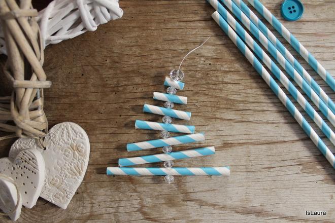 Albero Di Natale Con Cannucce Di Carta.Lavoretti Di Natale Con Le Cannucce Mamma Felice