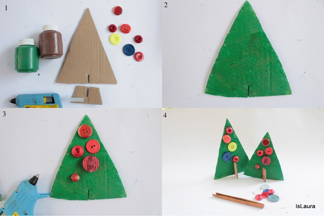 Top Lavoretti di Natale per bambini: alberelli in cartone | Mamma Felice CN05