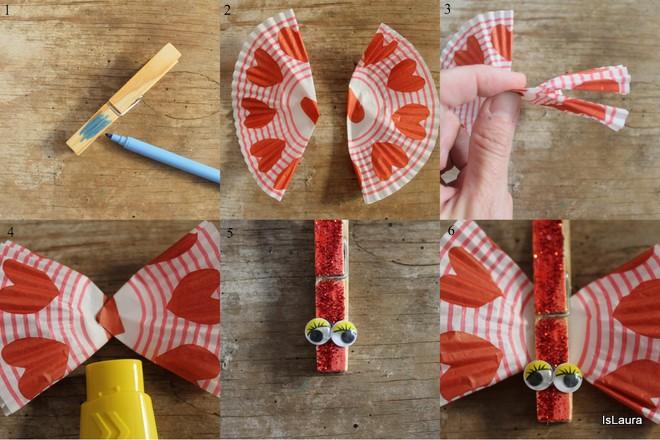 farfalle-con-mollette-e-pirottini-dei-cupcake