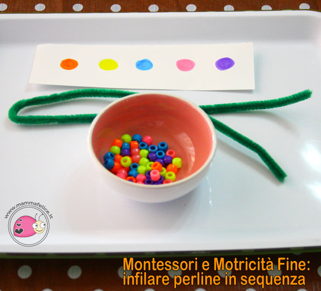 montessori-attivita-motricita-fine-infilare-perline-in-sequenza