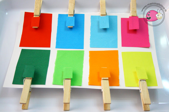 montessori-attivita-vita-pratica-motricita-fine-appaiamenti-di-colore-con-mollette
