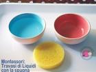 Montessori: Travasi di Liquidi con la spugna