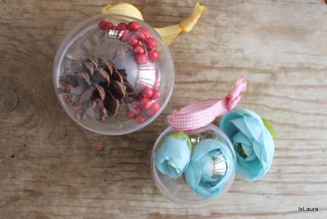 Palline di natale fai da te mamma felice - Decorazioni natalizie con materiale riciclato ...