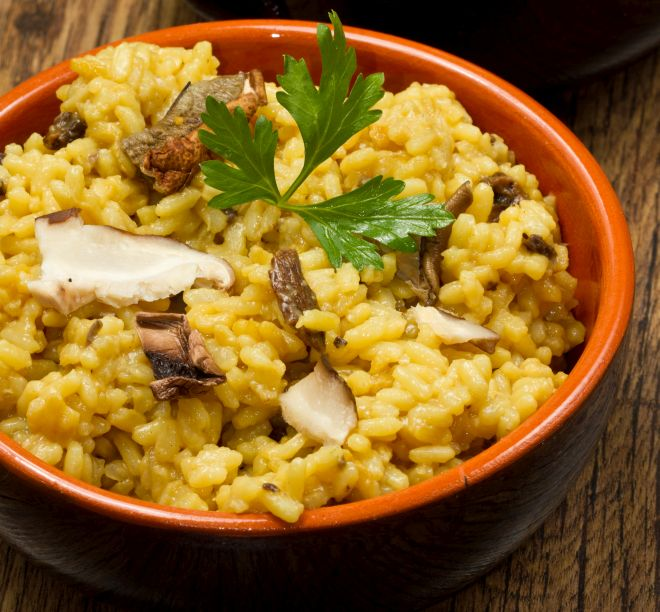 Come cucinare risotto con funghi freschi porcini mamma for Cucinare risotto