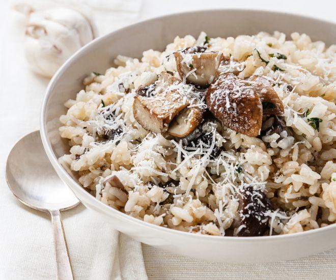 Risotto con i funghi freschi mamma felice for Cucinare risotto