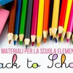 Back to school: materiali per la scuola elementare