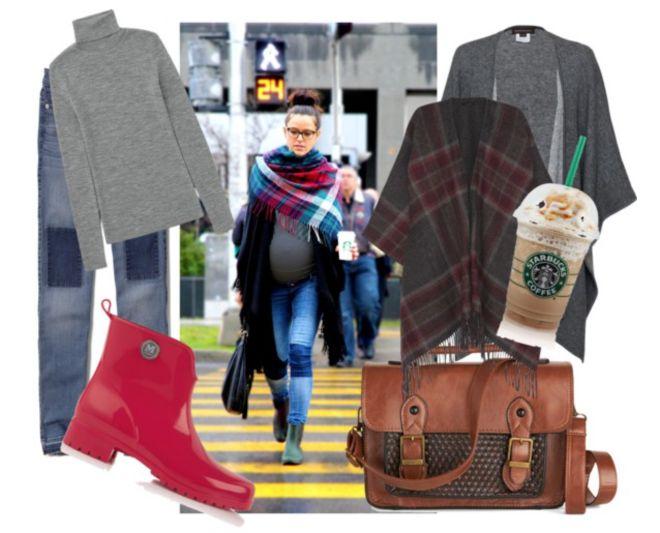 vestire-gravidanza-inverno-jeans-mantella