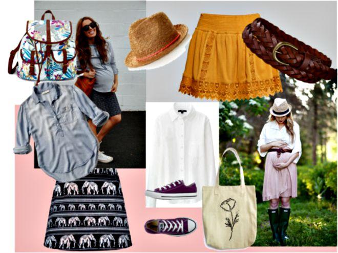 vestire-in-gravidanza-primavera-gonna-camicia
