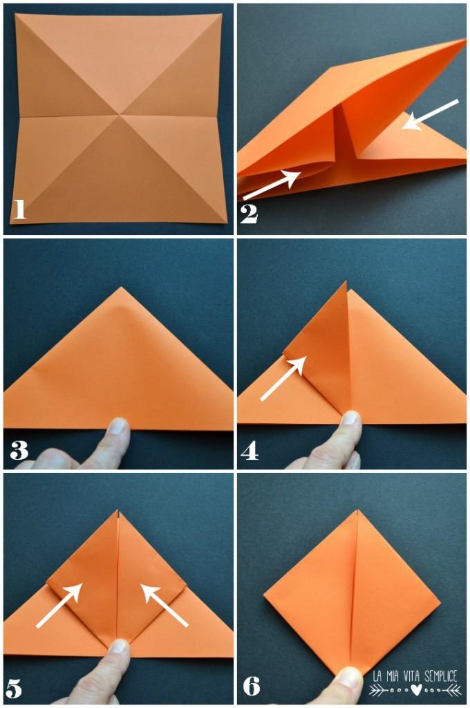 Zucca origami di Halloween