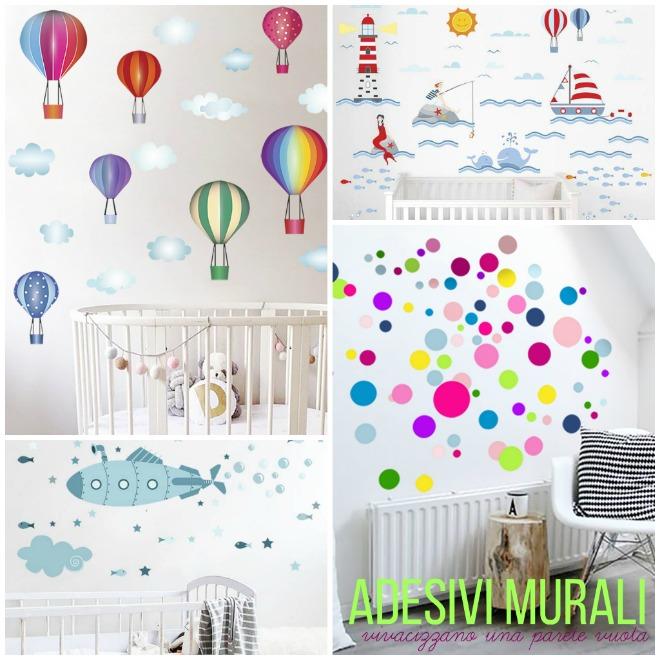Come usare gli adesivi murali in cameretta mamma felice - Adesivi murali per camerette bimbi ...