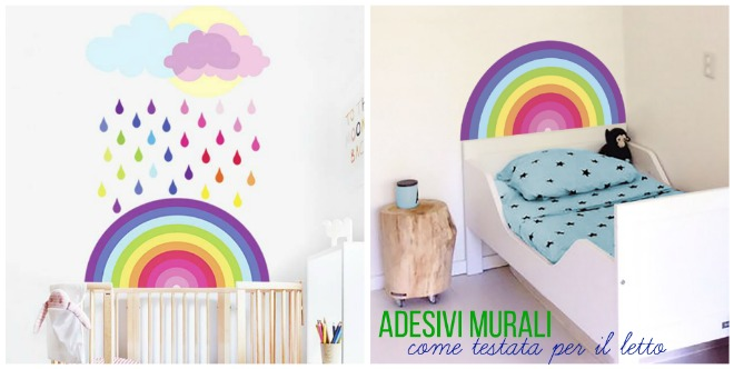 Testata Letto Bambina.Come Usare Gli Adesivi Murali In Cameretta Mamma Felice