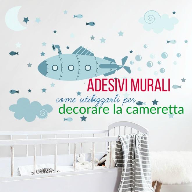 Come usare gli adesivi murali in cameretta mamma felice - Decorazioni murali per camerette bambini ...