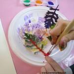Lavoretti per bambini con fiori e foglie