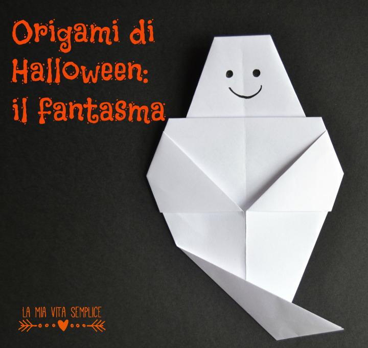 origami di Halloween fantasma