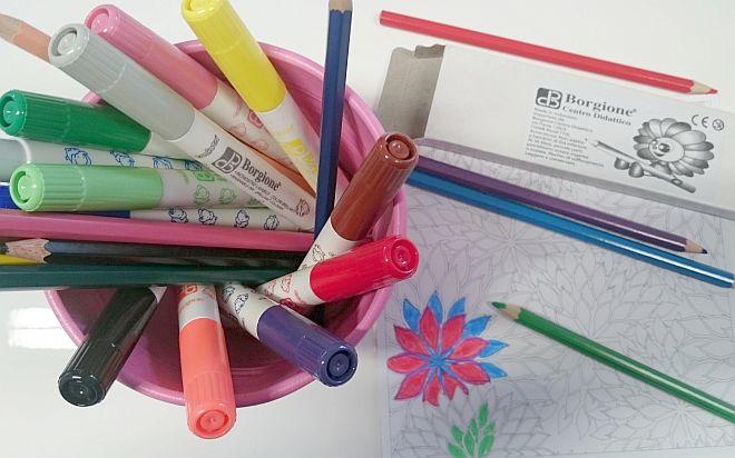 mandala-da-colorare-per-bambini-matite-colorate-borgione